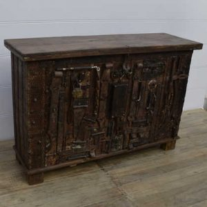 k13-RSO-72 indian furniture sideboard unusual locks metal wooden unusual