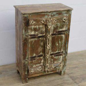 k13-RSO-73 indian cabinet vintage door small cupboard wood rustic