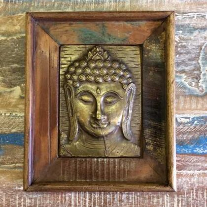 k13-RSO-51 indian picture wooden reclaimed buddha metal