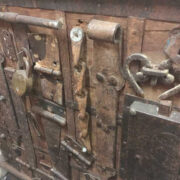 k13 RSO 72 indian furniture sideboard unusual locks metal wooden closer