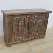 k13 RSO 72 indian furniture sideboard unusual locks metal wooden angle