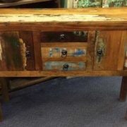 k63 40226 indian furniture console table storage drawers cupboard reclaimed front