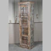 k63-40507 indian furniture cabinet narrow spindle tall slim