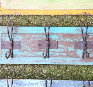 kh13-rso-43 indian hooks triple various wooden colour coat