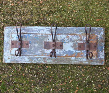 kh13-rso-43 indian hooks triple various wooden colour rustic