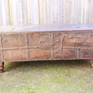 kh13-rso-62 indian furniture trunk coffee table old storage rustic