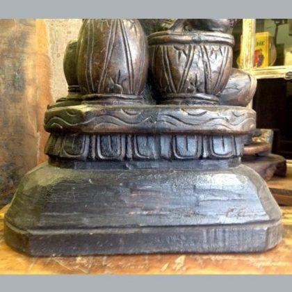 kh13-rso-77 indian statue ganesh drums figure drum detail