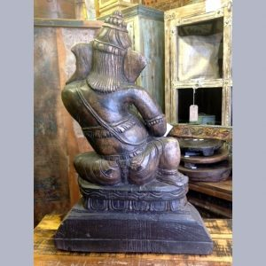 kh13-rso-77 indian statue ganesh drums figure butt detail
