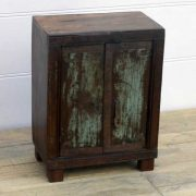 kh14-rs18-001 indian furniture bedside vintage distressed worn
