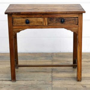 kh14-rs18-031 indian furniture desk table 2 drawer writing