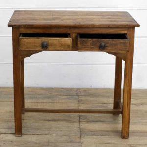 kh14-rs18-031 indian furniture desk table 2 drawer open