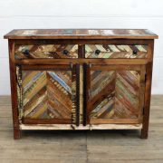 kh14-rs18-047 indian furniture reclaimed herringbone cabinet front