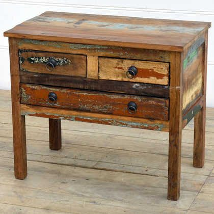 kh14-rs18-049 indian furniture unusual reclaimed console table angle view