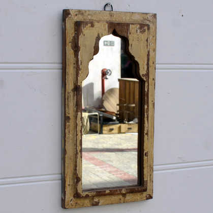 kh14-rs18-071 indian furniture mihrab mirror distressed