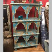 kh14-rs18-086 indian furniture blue wall shelving unit jodhpur blue