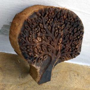 kh14-rs18-105 indian furniture tree of life printing block ink