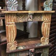 kh14-rs18-128-b indian furniture unusual low table carved legs