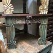 kh14-rs18-128-c indian furniture unusual low table carved legs