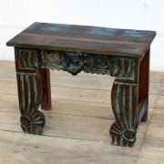 kh14-rs18-128 indian furniture unusual low table carved legs right