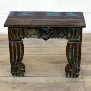 kh14-rs18-128 indian furniture unusual low table carved legs front