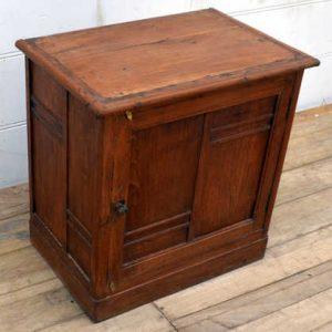kh15-p1090210 indian furniture teak cabinet end table bedside door detail