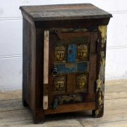 kh15-rs18-016 indian furniture reclaimed buddha bedside table unit recycled
