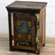 kh15-rs18-016 indian furniture reclaimed buddha bedside table unit rustic