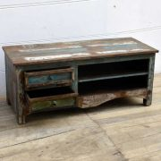 kh15-rs18-017 indian furniture reclaimed tv television unit simple practical
