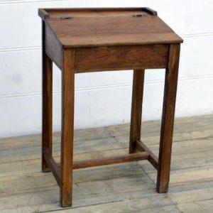 kh15-rs18-020 indian furniture vintage teak writing desk natural finish