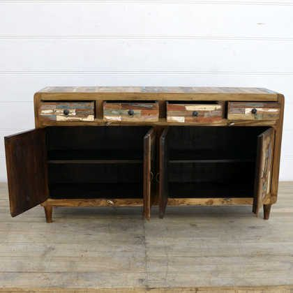 kh15-rs18-021 indian furniture large colourful reclaimed sideboard cabinet retro style