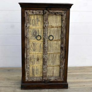 kh15-rs18-022 indian furniture yellow old door cabinet yellow wash