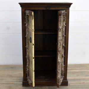 kh15-rs18-022 indian furniture yellow old door cabinet vintage door