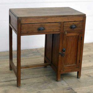 kh15-rs18-030 indian furniture vintage teak writing desk natural finish wood grain