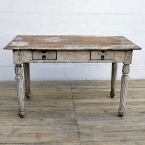 kh15-rs18-123 indian furniture unique distressed table fluted legs