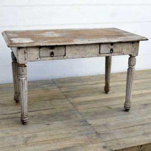 kh15-rs18-123 indian furniture unique distressed table antique