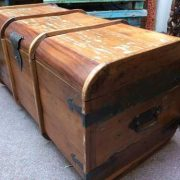 k64-60125 indian furniture treasure trunk chest reclaimed colourful - side
