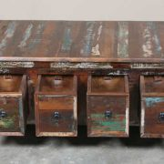 k64-60126 indian furniture large reclaimed coffee table with drawers clever storage