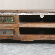 k64-60127 indian furniture reclaimed tv unit with drawers rustic