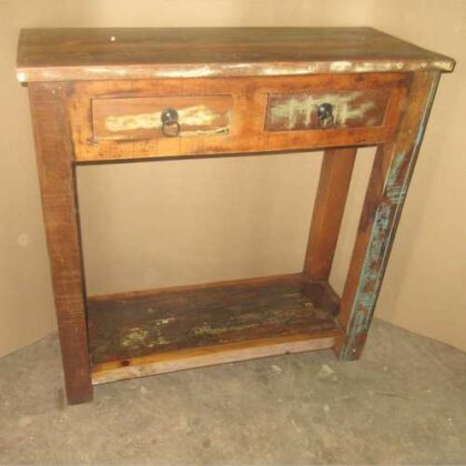 k64-60132 indian furniture reclaimed console simple two drawers