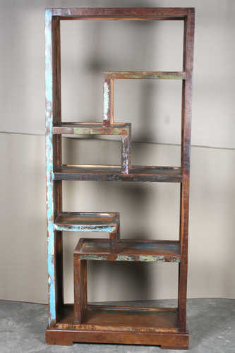 k64-60155 indian furniture unusual reclaimed bookcase display unit quirky design