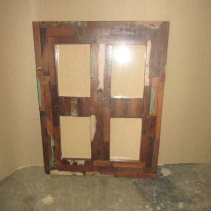 k64-60275 indian furniture four hole quad reclaimed photo frame multi frame