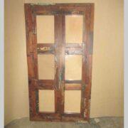 k64-60277 indian furniture six hole block photo frame reclaimed multi frame