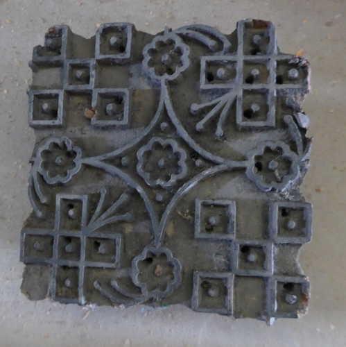 k64-60406 indian print block original e