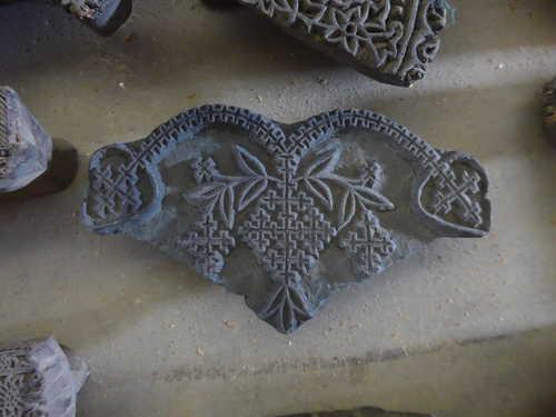 k64-60406 indian print block original h