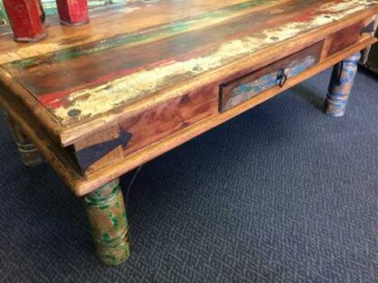 k65-60551 coffee table reclaimed thaket drawer close corner left