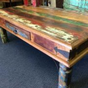 k65-60551 coffee table reclaimed thaket drawer close corner
