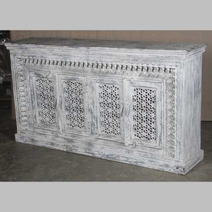 k66-img_4314 indian furniture sideboard white spindle unique
