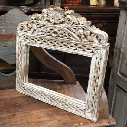 KH16-RS18-15 indian furniture mirror elegant white