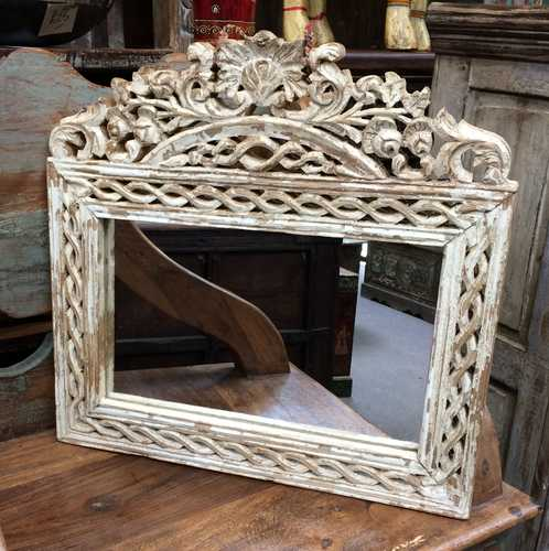 Decorative Hand Carved Mirror Frame Jugs Indian Furniture
