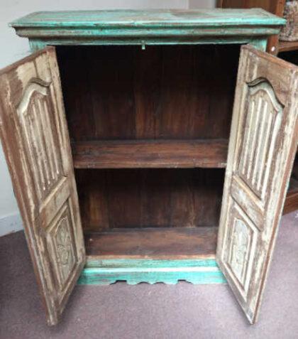 kh16 RS18 27 indian furniture cabinet medium shelved open front